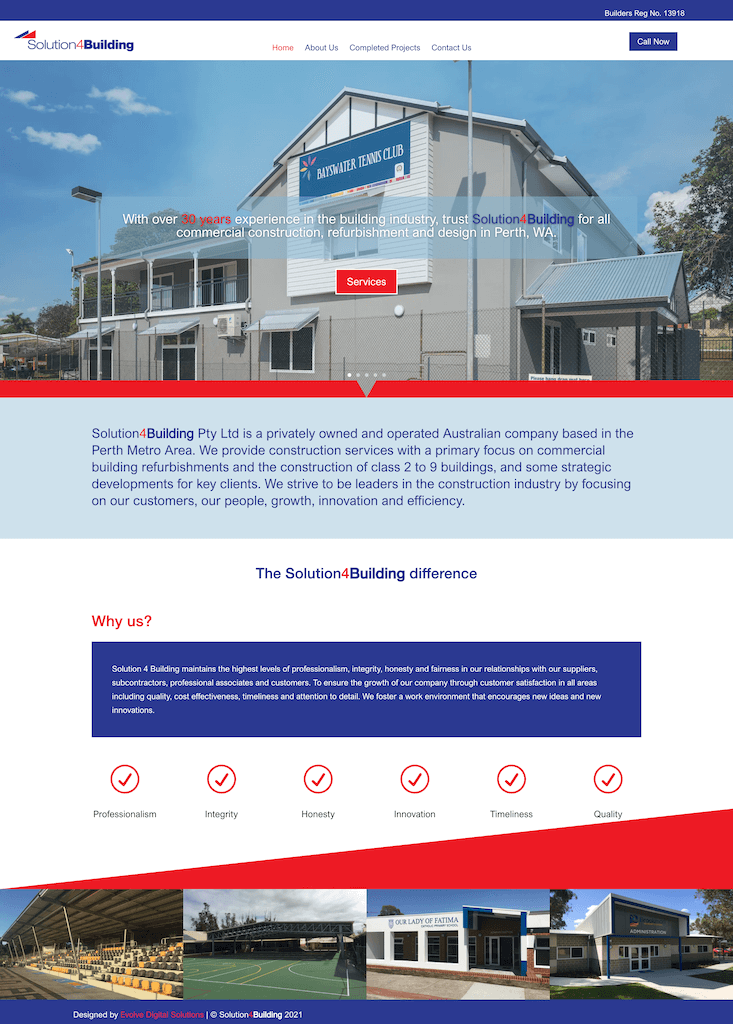 Solution 4 Building Homepage